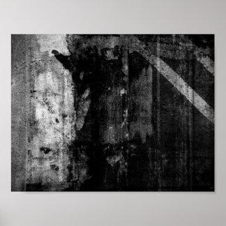 Grunge embankment poster