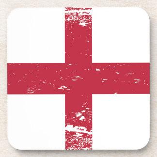 Grunge England Flag Beverage Coaster