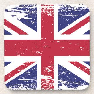 Grunge England Flag Drink Coasters