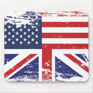 Grunge English American Flag 3 Mouse Pad