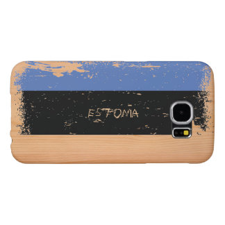 Grunge Estonia Flag on Wood Samsung Galaxy S6 Case