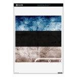 Grunge Estonia Flag; PS3 Slim Console Decals