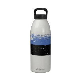 Grunge Estonia Flag Drinking Bottle