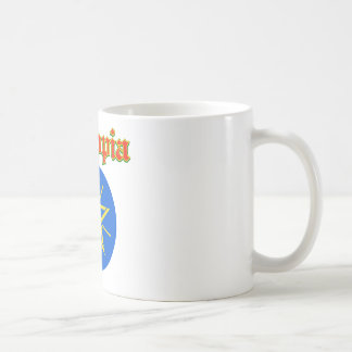 Grunge Ethiopia coat of arms designs Classic White Coffee Mug
