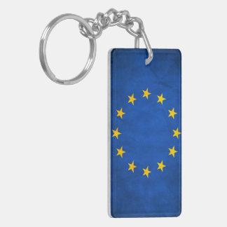 Grunge European Union Flag Keychain