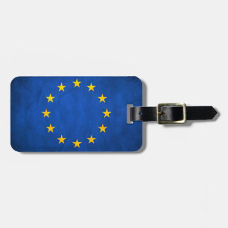 Grunge European Union Flag Luggage Tag