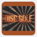 Grunge Explosion Square Sticker