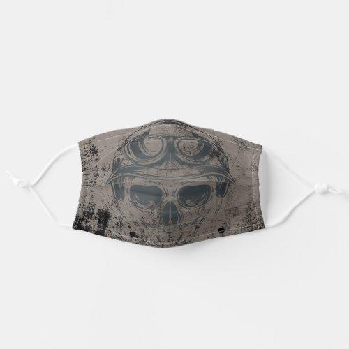 Grunge Face Skull Cloth Face Mask