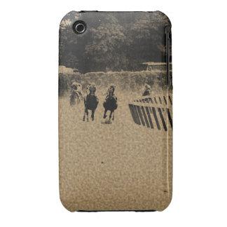 Grunge fangoso de la pista de la carrera de iPhone 3 carcasas