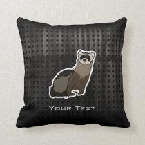 Grunge Ferret Throw Pillow