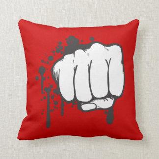 grunge fist bump vector throw pillow