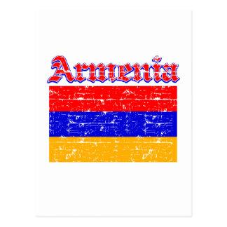 Grunge Flag of Armenia Postcard