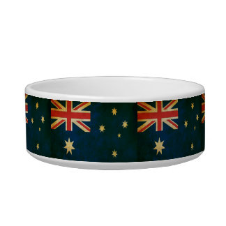 Grunge Flag of Australia Pet Bowl