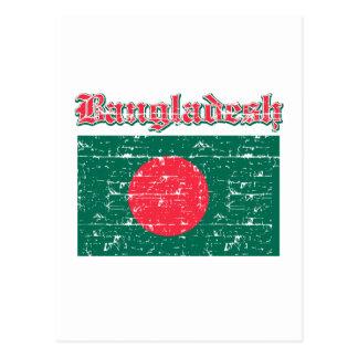 Grunge Flag of Bangladesh Postcard