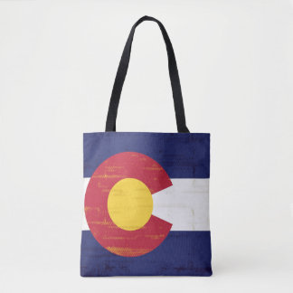 Grunge Flag of Colorado Tote Bag