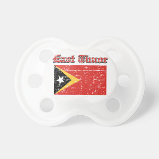 Grunge Flag of East Timor designs Baby Pacifiers