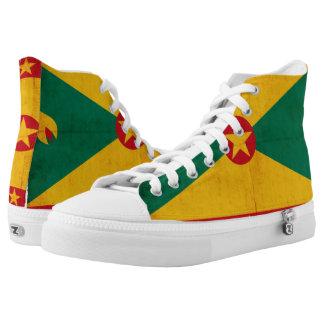 Grunge Flag Of Grenada High-Top Sneakers