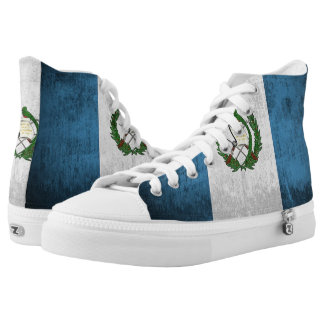 Grunge Flag Of Guatemala High-Top Sneakers