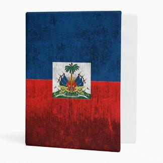 Grunge Flag Of Haiti Mini Binder