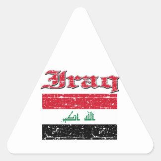 Grunge Flag of Iraq Triangle Sticker