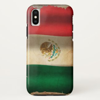 Grunge Flag of Mexico... iPhone X Case
