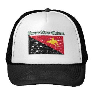 Grunge Flag of Papua New Guinea Trucker Hat