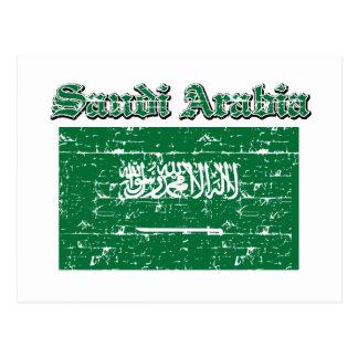 Grunge Flag of Saudi Arabia Postcard