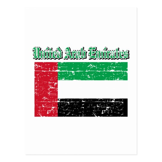 Grunge Flag of United Arab Emirates Postcard