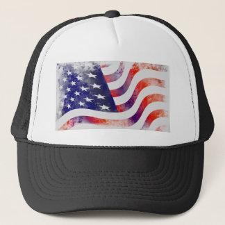 Grunge Flag Trucker Hat