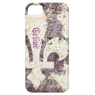 Grunge fleur de lis phone case iPhone 5 case
