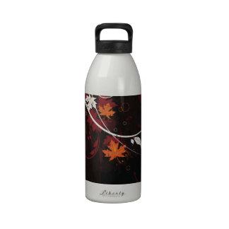 Grunge floral botellas de beber