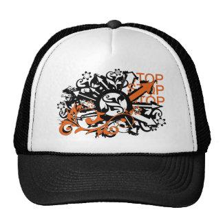 grunge floral arrows image trucker hat