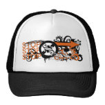 grunge floral arrows image trucker hats