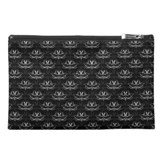 Grunge Floral: Black and White Travel Accessories Bags