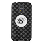 Grunge Floral: Black and White Galaxy S5 Cases