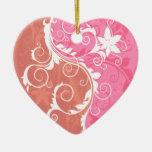 Grunge floral blanco y rosado