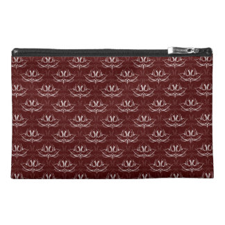 Grunge Floral: Blood Red Travel Accessories Bags