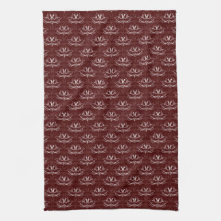 Grunge Floral: Blood Red Hand Towels