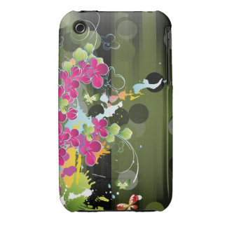 Grunge Floral iPhone 3 Covers
