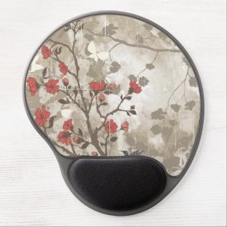 Grunge floral con el pájaro alfombrilla gel