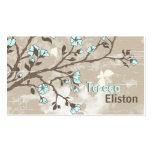 Grunge floral de las flores azul claro del vintage tarjeta de visita