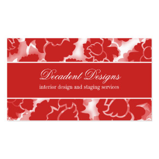 Grunge Floral Decadence Business Card