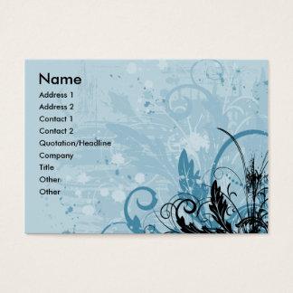 Grunge Floral Design - Light Blue Business Card