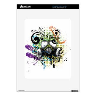 Grunge Floral Gas Mask2 Skins For iPad