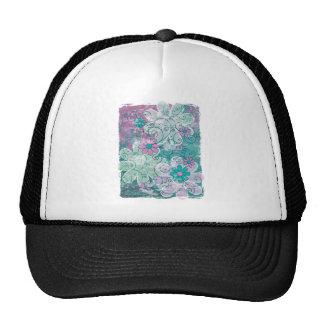 Grunge floral gorra