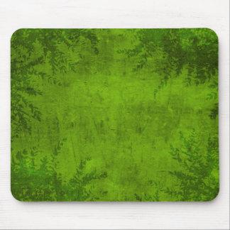 Grunge Floral Green Illustration Mouse Pad
