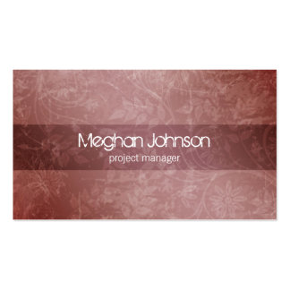 Grunge Floral Mauve Trendy Business Card