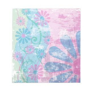 Grunge Floral Notepad