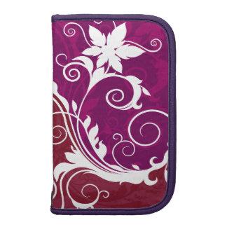 Grunge floral púrpura y blanco planificadores