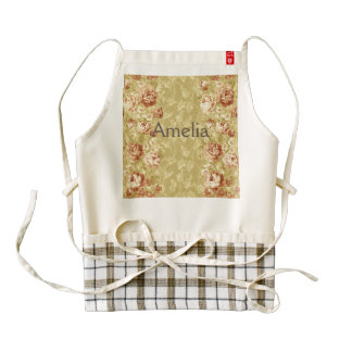 grunge,floral,vintage,damasks,wall paper,pattern,a zazzle HEART apron